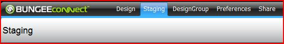 The Staging Tab